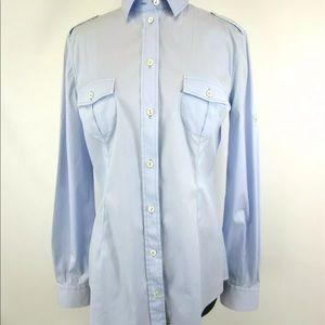 D&G Light Sky Blue S Button-Down Dress Shirt
